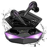 Auriculares Inalambricos Bluetooth Gaming, Kingstar con cancelación de Ruido, micrófono de Baja latencia Ipx5, autoemparejamiento Activado inalámbricos Gaming Auriculares PC Teléfono móvi (2)