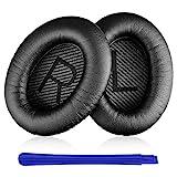 Almohadillas Bose,TesRank Repuesto Espuma para Auriculares Bose QuietComfort 35 35II 2 15 25 AE2 AE2i AE2w SoundTrue SoundLink QC35 QC35II Almohadilla Reemplazo Bose-Negro